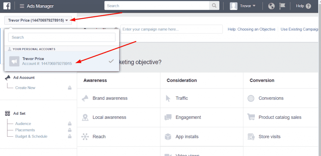 facebook ads account number 1024x499 - How to give your advertising agency access to your Facebook ads manager