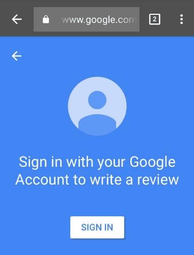 Google review incognito mode