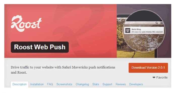 Roost Android and iPhone Push Notifications WordPress Plugin
